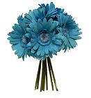 Gerbera Daisy Bouquet 9 Daisies Stem Artificial Flowers Silk Wedding Centerpiece