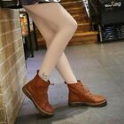 Hot Brogues Womens Shoes Retro Riding Ankle Boots Lace Up Pumps College British