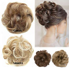 Updo Curly Messy Bun Hairpiece as Real Hair Extensions Thick Natural Ponytail Fg