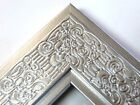 "2.3"" Mayan Metallicc Silver Solid Wood Canvas Picture Frame-Custom Standard"