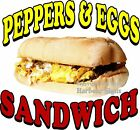 Pepper & Eggs Sandwich DECAL (CHOOSE YOUR SIZE) Food Truck Concession Sticker