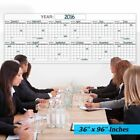 Jumbo Wet or Dry Erase Plan Wall Calendar Laminated 12 Month Planner 36x96""