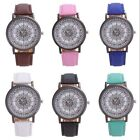 New Fashion Women Girl Roman Chart Leather Band Quartz Wrist Watch Bracelet