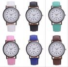 New Women 's Fashion Roman Leather Band Analog Quartz Round Wrist Watch Watches