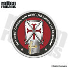 Knights Templar Crusader Decal Shield Helmet Cross Gloss Sticker HVG