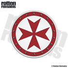 Knights Templar Round Shield Decal Cross Car Truck Gloss Sticker V4 HVG