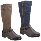 Divaz Manson Tall Long Boots Zip Up Heeled Fashion Womens Shoes Ladies