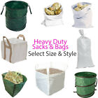 Heavy Duty Sacks–Builders Gardeners Sand Rubble Bag–Brick Gravel Landscape Waste