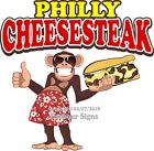 Philly Cheesesteak DECAL (Choose Your Size) Monkey Concession Food Sticker