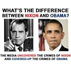 Anti Liberal DIFFERENCE BETWEEN NIXON AND OBAMA Conservative Political Shirt