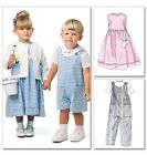McCall's 6304 Easy Sewing Pattern to MAKE Toddler Dress Jacket Shirt & Dungarees