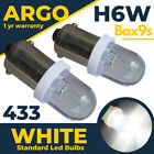 H6w 434 Bax9s 433c T4w Led Hid Parking Side Light Bulbs Xenon Super White 12v
