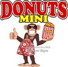 Mini Donuts DECAL (Choose Your Size) Monkey Concession Food Sticker