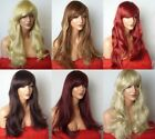 Fashion Women Long Highlight Blonde Brown Red Synthetic Heat OK Hair Wig style C
