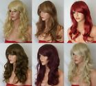 Fashion Women Long Highlight Blonde Brown Red Synthetic Heat OK Hair Wig style P