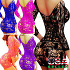 New Sexy Lingerie Sleepwear Nightwear Women Dress Bodystocking Babydoll Fishnet
