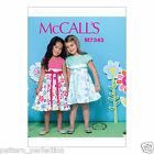 McCall's 7343 Easy Sewing Pattern to MAKE Girls' Contrast-Bodice Dresses