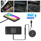 Car Mount Qi Wireless Fast Charger Magnetic Holder For Samsung S9 S8 iPhone X 8