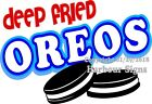 (Choose Your Size) Deep Fried Oreos DECAL Food Truck Concession Vinyl Sticker