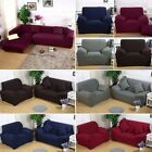 Elastic Slipcover Thick Plush Sectional Sofa Solid Couch Covers 1 2 3 4 Seater