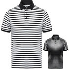 FRONT ROW STRIPED JERSEY POLO SHIRT XS-XXL FR230