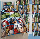 Marvel Avengers Shield Single Rotary Duvet and Matching Curtains Set New Gift
