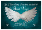 Angel Quotes IF I Listen Closely Wall Art Decor Poster Print Angel Pictures #232