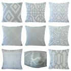 Soft VELVET Gray Throw PILLOW COVER Geometry Sofa Couch Grey Cushion Case 18x18""