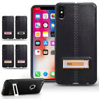 Hybrid Silicone Kick Stand Case Cover For iPhone X 7 8 Samsung Galaxy S8 Plus
