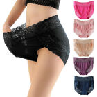 3pcs/pack Women Plus Size Lingerie Panties Sexy Lace Floral High Waist Underwear