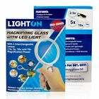 LED Magnifying Glass with Light and 4 Interchangeable Lenses 2.5x 5x 10x & 16x