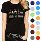 """Casual Mens T-Shirts Summer""""plants are friends""""Printed Lovers Short Sleeve Tops"""