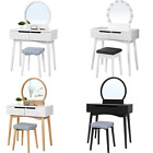Songmics Modern Dressing Table Set with Mirror and Stool Makeup Organiser