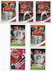 2018 DONRUSS BASEBALL MIKE TROUT + VARIATIONS + DIAMOND KINGS ANGELS (LOT 7)