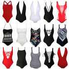 Sexy Women Swimwear One Piece Swimsuit Monokini Push Up Padded Bikini Bathing F
