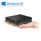 Mini-PC CSL Narrow Box Ultra HD Compact Windows 10 HTPC SSD Desktop