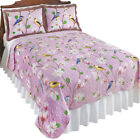 Birds & Magnolia Floral Garden Reversible Lavender Quilt, by Collections Etc image