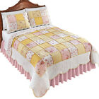 Pink Blissful Shabby Chic Floral Reversible Patchwork Quilt, by Collections Etc image
