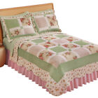 Miniature Floral Border Cottage Patchwork Quilt, by Collections Etc image