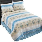 Stripe Floral Patchwork Reversible Lightweight Quilt, by Collections Etc image