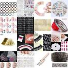 Makeup Hollow Out Embossed Flower 3D Nail Art Stickers TXST