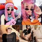 New Unisex Fashion Sunglasses Eyewear Vintage Style Casual Round Shape DZ88 03