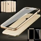 Metal Frame Transparent Hard Plastic Protector Case Cover Skin For iPhone 6 4.7""