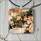 RENOIR CLASSIC ART LUNCHEON OF THE BOATING PARTY PENDANT 3 SIZES -drt4Z