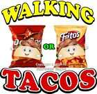 Walking Tacos DECAL (Choose Your Size) Cart food Truck Concession Vinyl Sticker