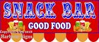 (Choose Your Size) Snack Bar DECAL Food Truck Concession Sticker