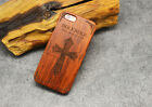 Good Wooden Back Carving Cover For Samsung Galaxy S6 S7 Edge S8 S9 Plus Note 8 5