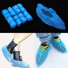 100-200pcs Blue Plastic Disposable Shoes Cover Overshoes Cleaning Waterproof NEW