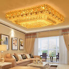 Modern Fashion square chandeliers LED Flush Mount K9 crystal ceiling lamps#5212B
