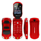 """NEWMIND F15 Flip Phone With Camera Dual SIM LED Light 1.8"""" Luxury Car Cell Phone"""